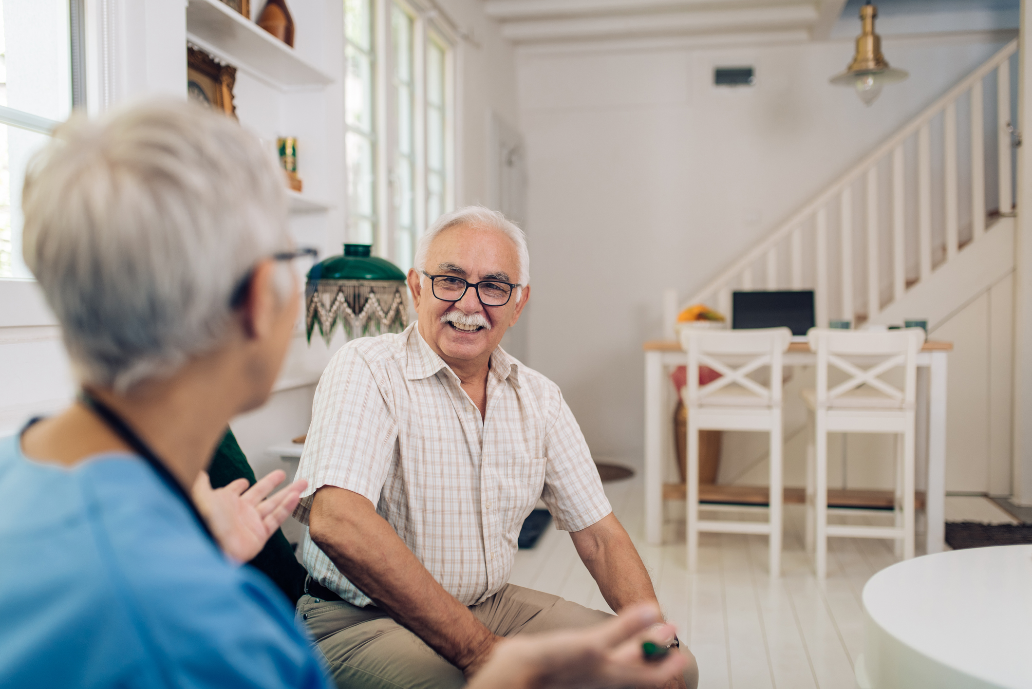 Elderly care solutions can begin with an in-home care consultation.